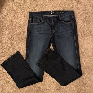 7 for all Mankind Like New Dark A Pocket Jeans